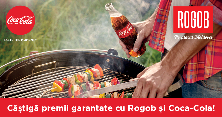 Câştigă premii garantate cu ROGOB şi Coca-Cola!