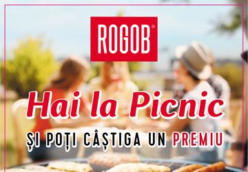 Hai la picnic cu Rogob în perioada 15 iulie – 31 august 2019 și poți câștiga unul din cele peste 1000 de premii